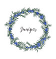 beautiful wreath circular frame or border made vector image vector image