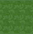 branch of holly with leaves seamless pattern vector image vector image