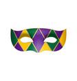 carnival masquerade mask vector image vector image