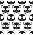 cat face pattern vector image vector image