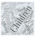 CEREBRAL PALSY Word Cloud Concept vector image vector image