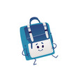 cute backpack cartoon character dancing isolated vector image vector image