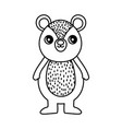 cute bear character cartoon thick line vector image vector image