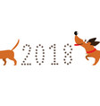 cute cartoon dachshund dog following tail and vector image vector image