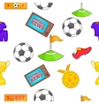 Football pattern cartoon style vector image