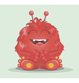 Good red furry monsters 2 vector image vector image