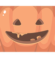 halloween of close up decorative orange face vector image vector image