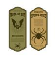 halloween poison label wool bat spider juice vector image vector image