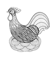 Hand drawing Chicken in nest for adult anti stress vector image vector image