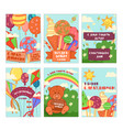 happy childrens day background and gift cards set vector image vector image