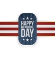 Happy Memorial Day realistic Badge and Ribbon vector image vector image