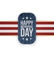 happy memorial day realistic badge and ribbon vector image vector image