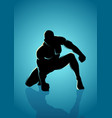 heroic pose vector image vector image