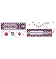 horizontal rectangular labels with jacquard vector image vector image