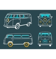Icons Hippie Bus vector image vector image