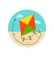 Kite icon Summer Vacation vector image