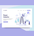 Landing page template power industry concept