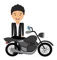 man motorcyclist design vector image