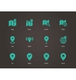 Map icons GPS and Navigation vector image vector image