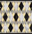 marble and gold luxury geometric seamless pattern vector image