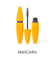 mascara make up background cosmetic icons vector image vector image