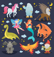 mythological animal mythical creature vector image