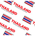 national flag thailand travel destination seamless vector image vector image
