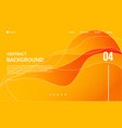 orange wave modern abstract background vector image