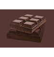 Piece of chocolate vector image