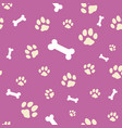 pink bone and paw texture vector image vector image
