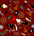 pirate seamless pattern piratical accessory vector image vector image