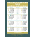 pocket calendar 2015 with USA holidays vector image vector image