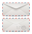 Postage envelopes vector image