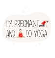 Poster for advertising pregnant yoga vector image vector image
