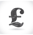 Pound sign vector image vector image