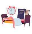procrastination and exhaustion sleep addiction vector image