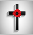 remembrance day background vector image