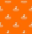 repairman pattern orange vector image vector image