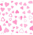 romantic pink heart seamless pattern vector image