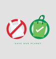 say no to plastic bags and bring your own bag vector image vector image