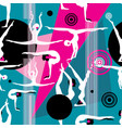 seamless bright pattern different gymnasts vector image