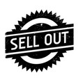sell out rubber stamp vector image