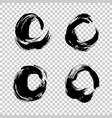 set black paint ink brush strokes brushes vector image