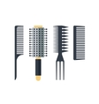 Set flat combs isolated on white background vector image vector image