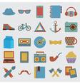 set hipster symbol vector image vector image