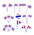 Set of Thai Flag on White Background vector image