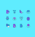 set simple line icons vr and ar vector image vector image