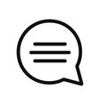 speech bubble icon in modern design style for web vector image vector image