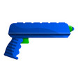 squirt pistol icon cartoon style vector image