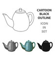 teapot icon in cartoon style isolated on white vector image vector image